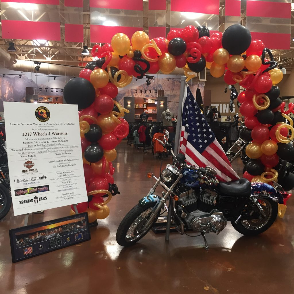 Veteran Motorcycle Balloon Arch