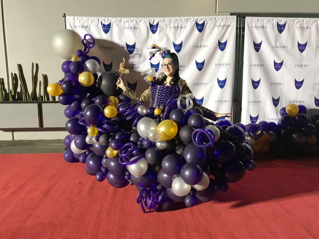 Red Carpet Balloon Dress and Pillar 2